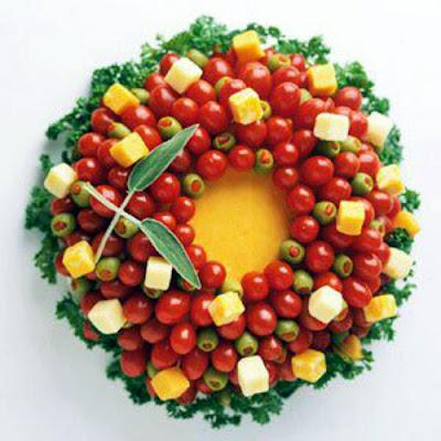 receita de Guirlanda de tomatinho cereja, como fazer Guirlanda de tomatinho cereja, como decorar Guirlanda de tomatinho cereja,