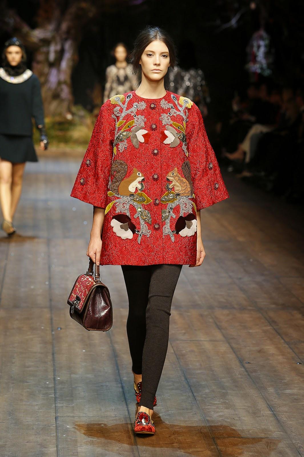 Dolce&Gabbana colecção outono inverno 2014-2015  flores e esquilos