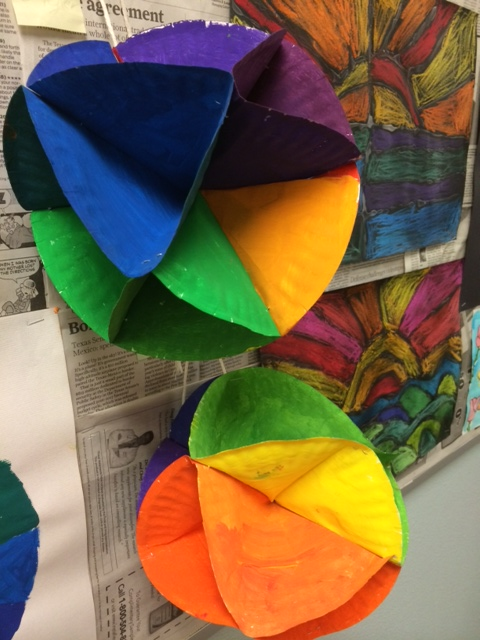 Students Could Choose To Make A 3D Color Wheel Or One Of The Complementary Wheels