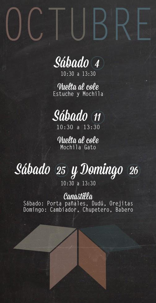 Monográficos Octubre Trapo y tela costura y patchwork Madrid