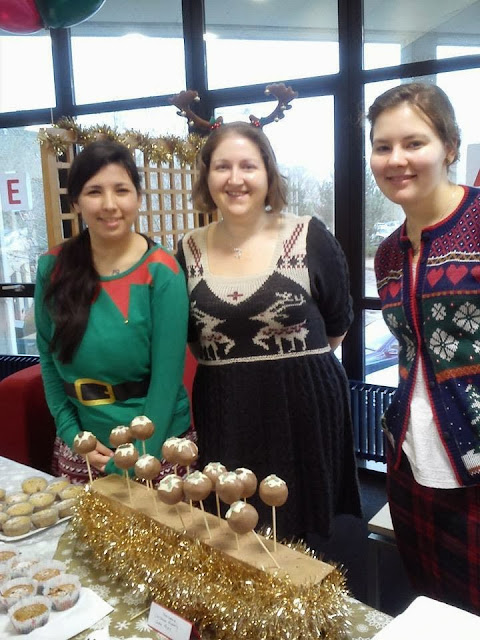 Festive Cake Stall for Charity Christmas Jumper Day