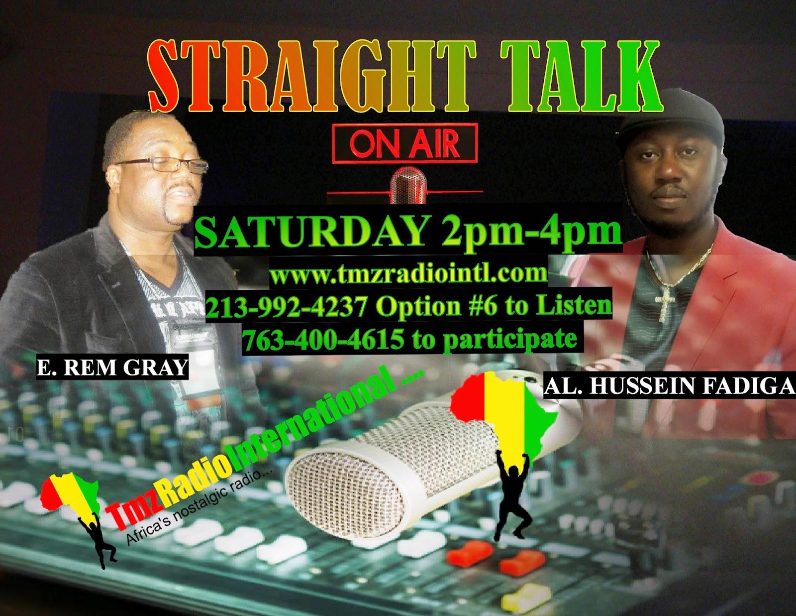 STRAIGHT TALK ON TMZ RADIO INTERNATIONAL