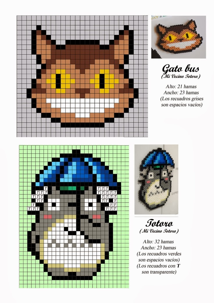Anime Hama Beads Pattern post by wememade