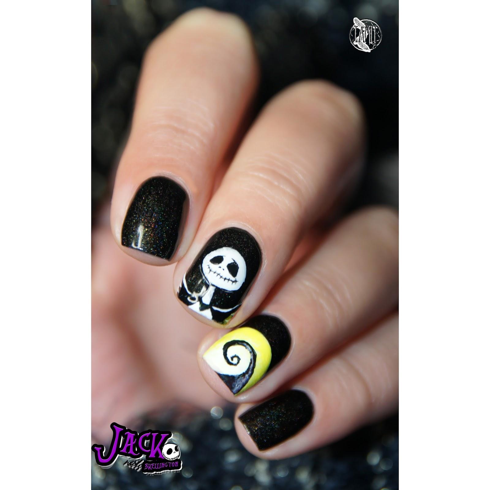 fall in ...naiLove!: Jack Skellington nails: tutorial. | Halloween 2014.