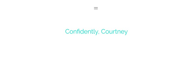 confidently courtney