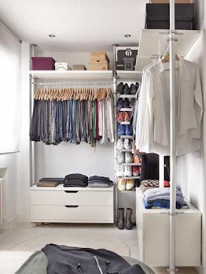 vestidor apartamento pequeño hombre