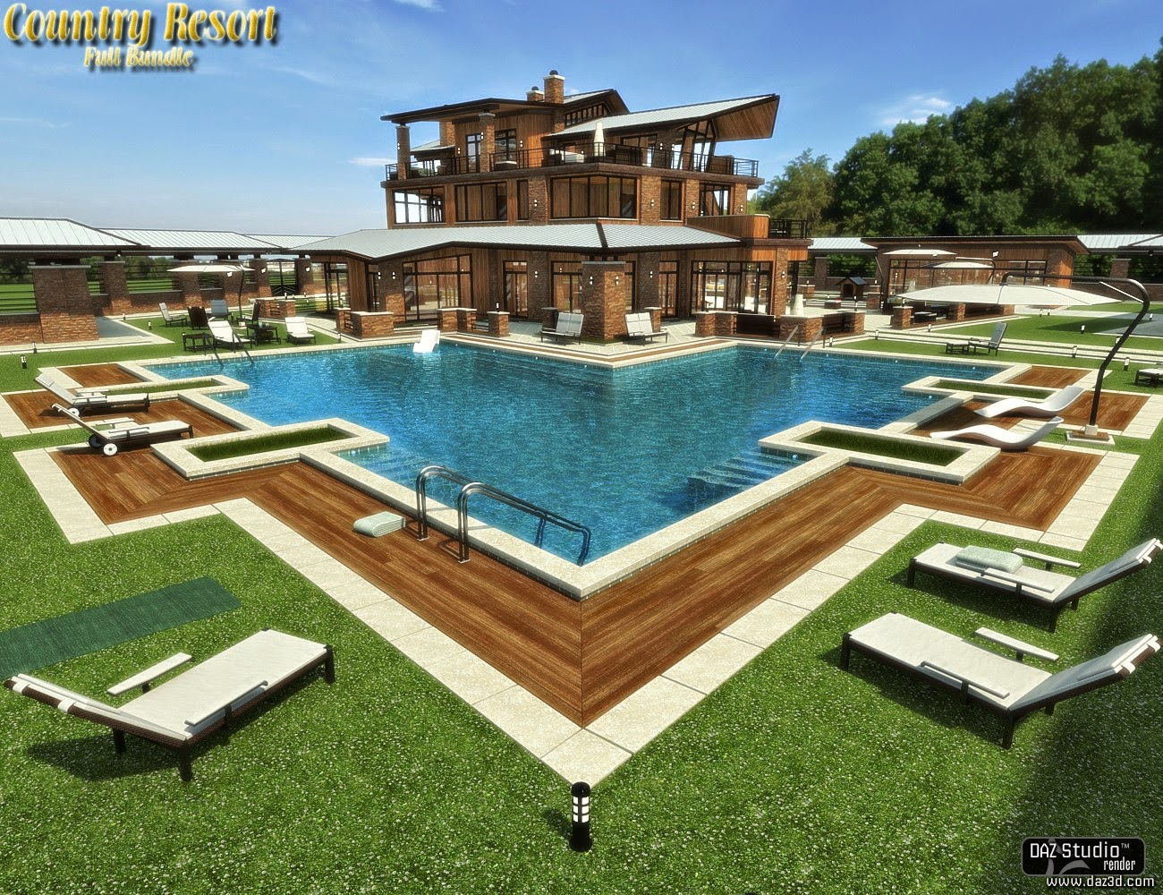 3d Models - Country Resort - Bundle