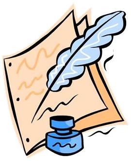 feuille, plume et encrier (dessin)