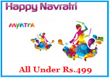 Myntra Navratri Special – Buy Shoes, Tees, Kurta, FlipFlops, Bags & More All Under Rs.499