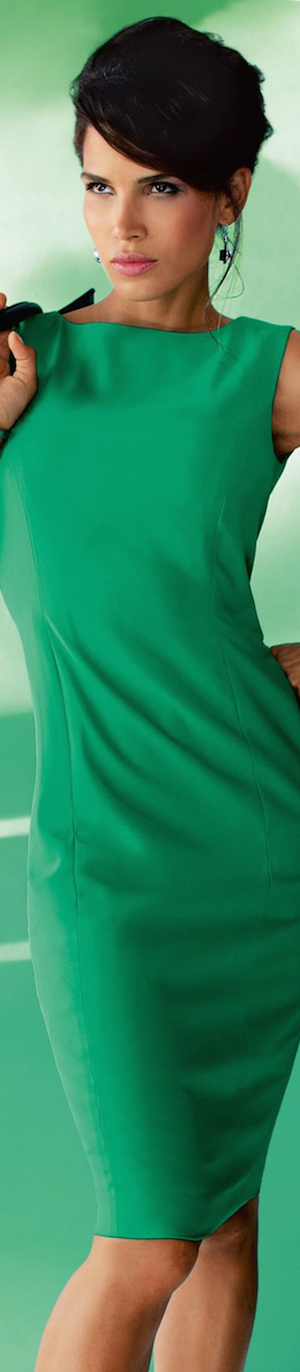 Madeleine Sheath Dress in Apple Green