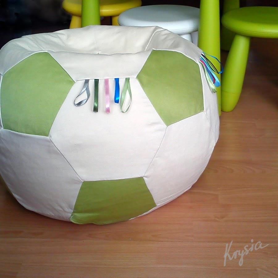 patchworkowa piłka tutorial pufa Krysia