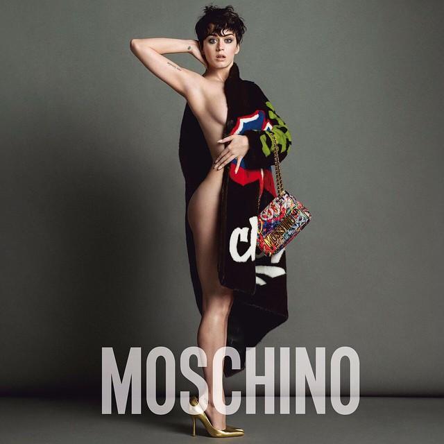 Katy Perry desnuda para Moschino - FARANDULA INTERNACIONAL-PAREJAS DISPAREJAS