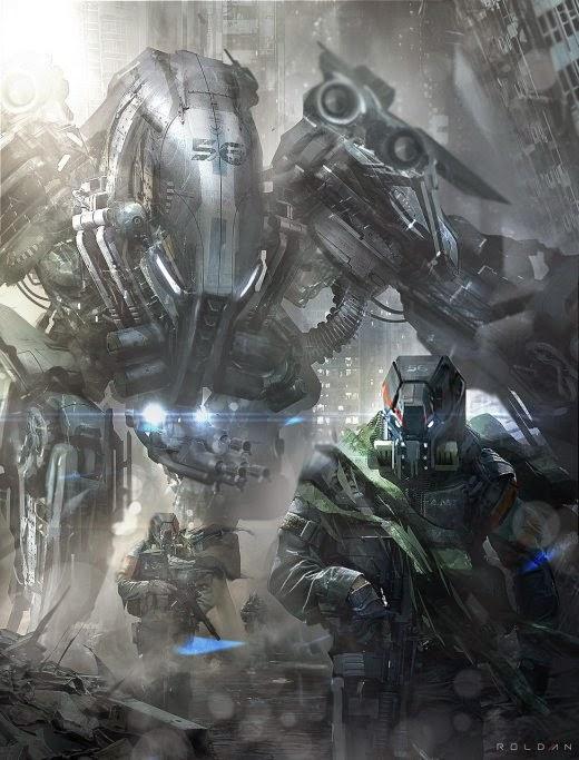 Juan Pablo Roldan ilustrações ficção científica robôs soldados futuro distópico