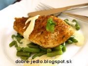 Kuracina so zelenými fazuľkami a horčicovou omáčkou - recept