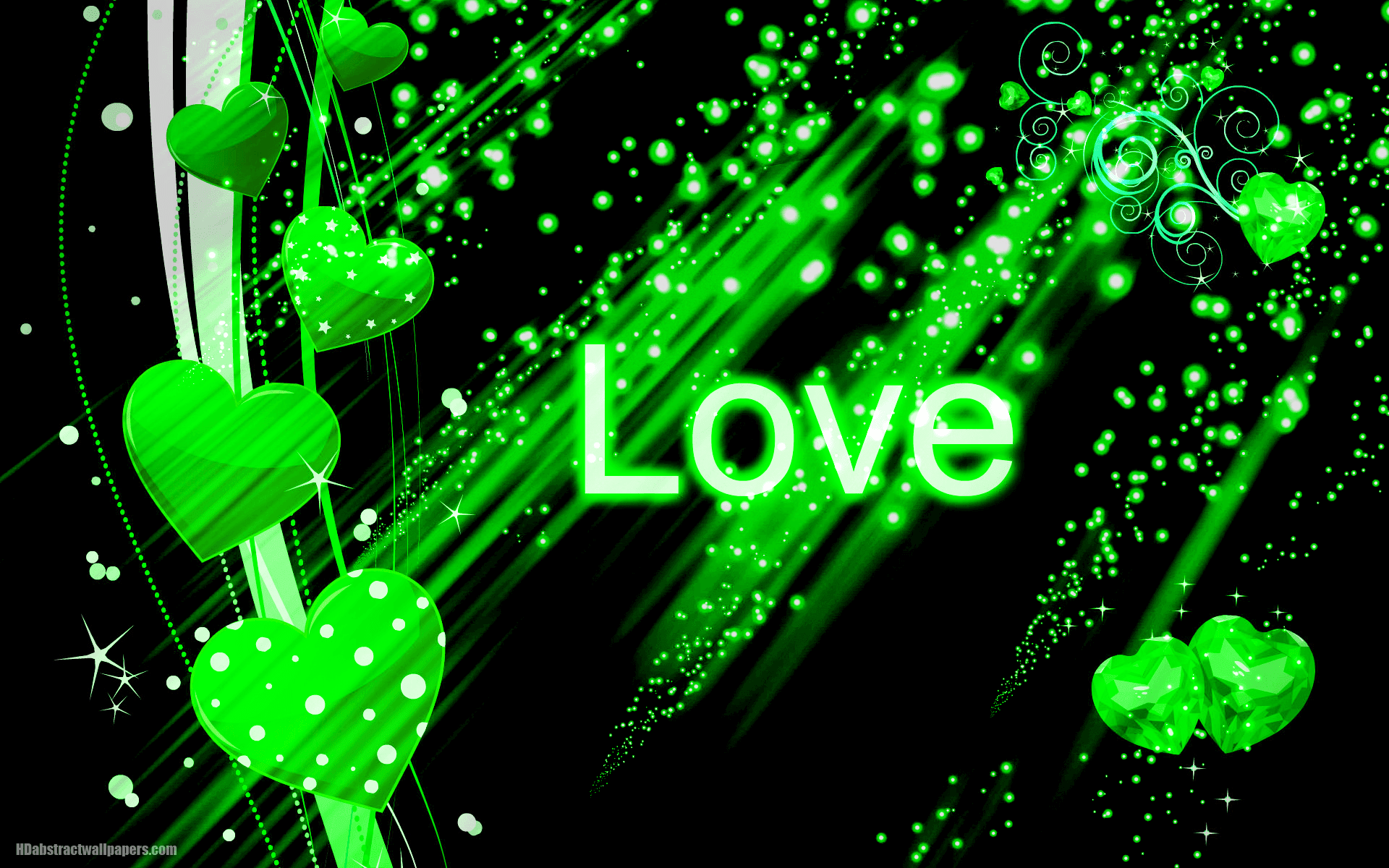 green hearts background - photo #42