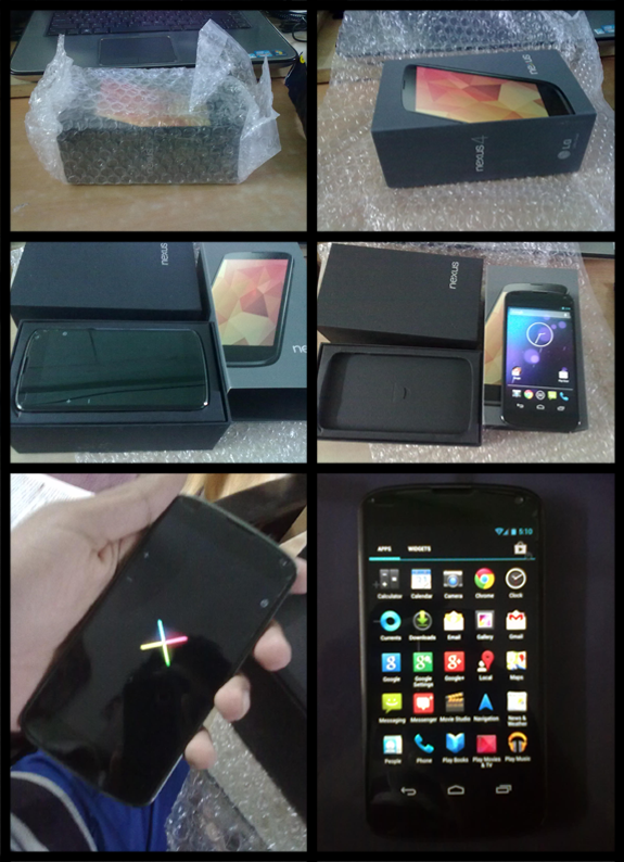 Google Nexus 4 - Unboxing