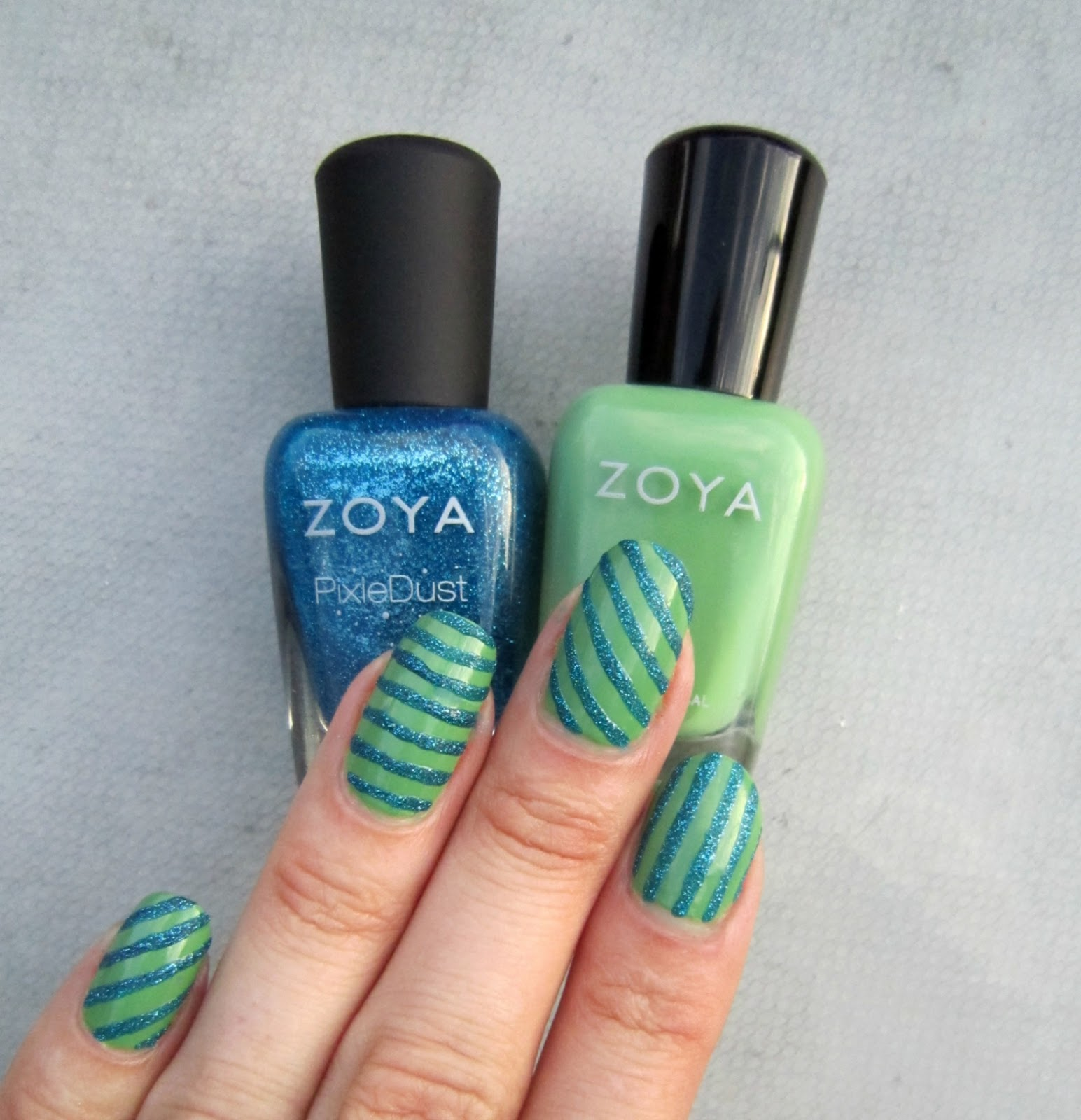 Concrete And Nail Polish Striped Nail Art: Concrete And Nail Polish: Fun Stripes With Zoya Josie
