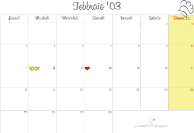 MONTHLY PLANNER calendar febbraio 2013