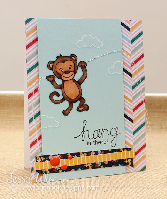 Hang in there card by Tessa Wise | Hanging Around Stamp set | Newton's Nook Designs