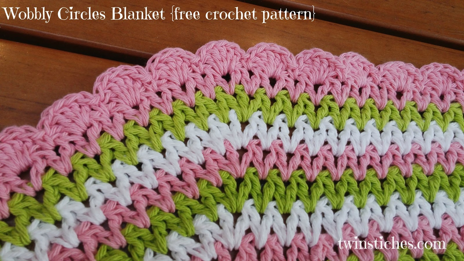 Tw-In Stitches: Wobbly Circles Blanket - Free Pattern | Tw-In Stitches