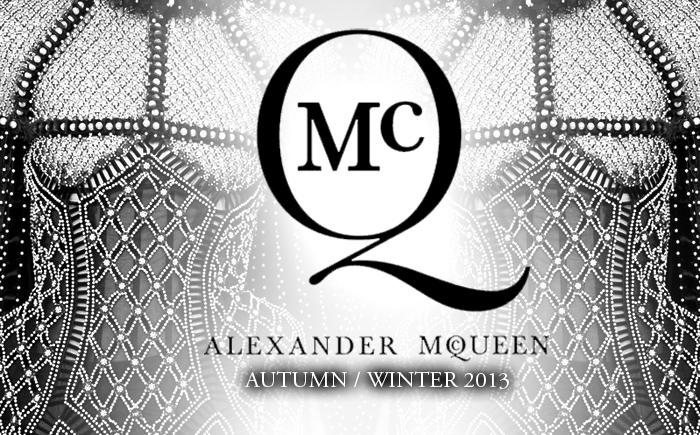 Alexander McQueen Autumn Fall 2013 Sarah Burton