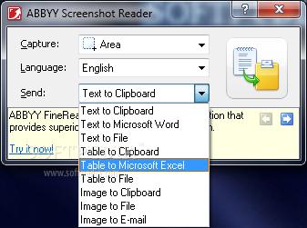 ABBYY Screenshot Reader programa para capturar pantalla