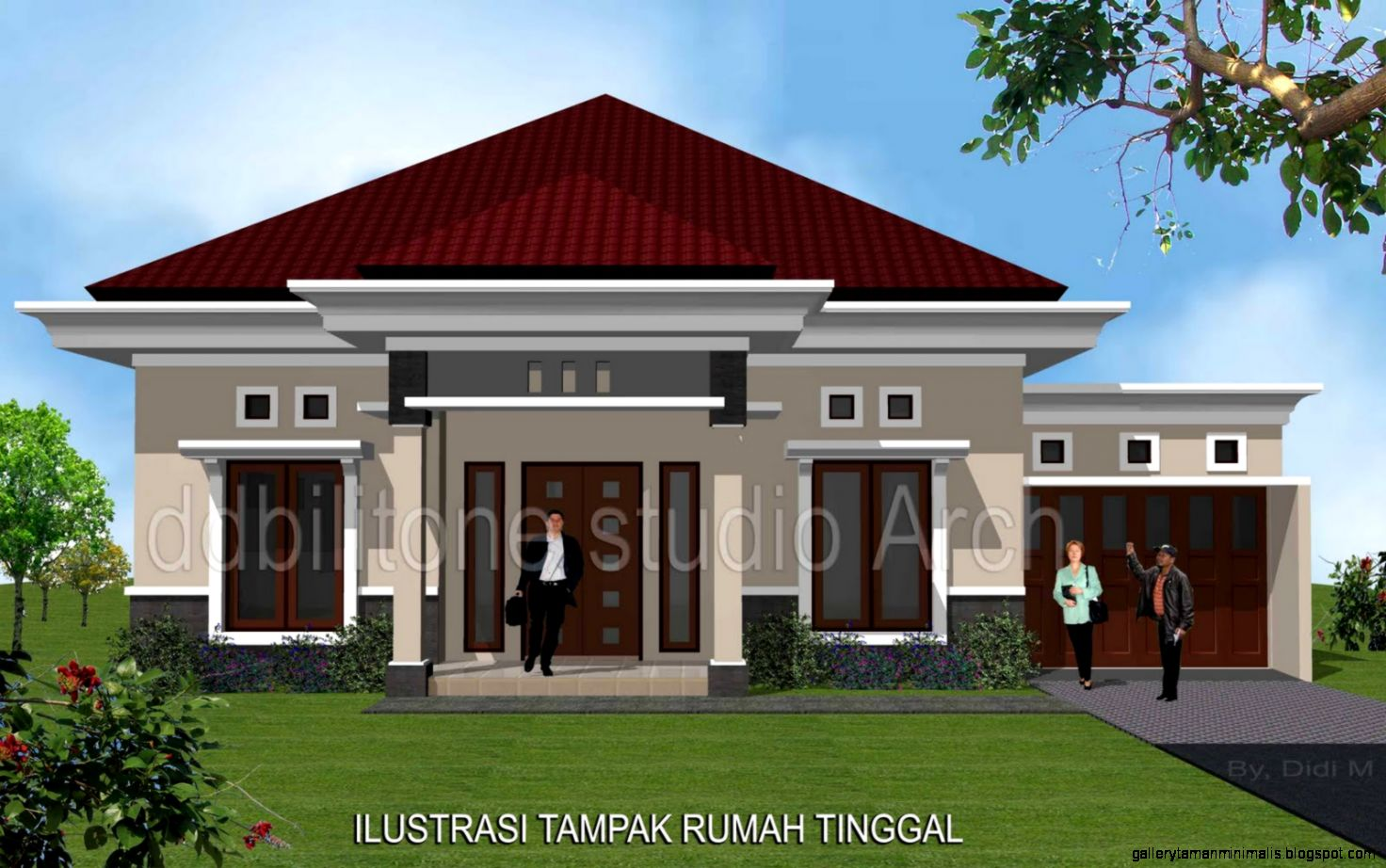 Model Rumah Tinggal Gallery Taman Minimalis