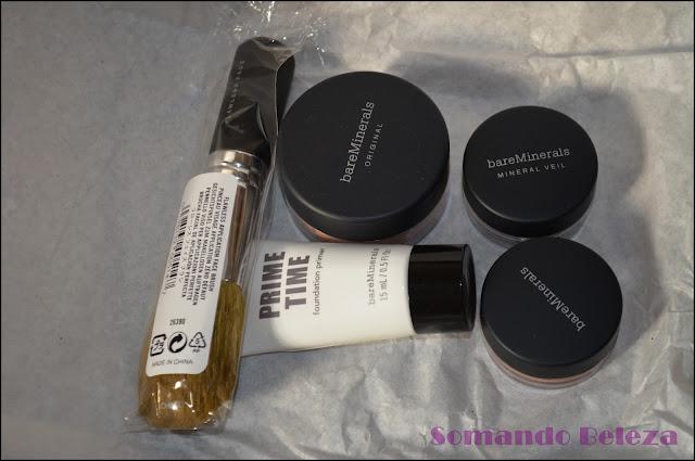 Somando Beleza, Kit Bare Minerals, Sephora.Somando Beleza, Kit Bare Minerals, Sephora.