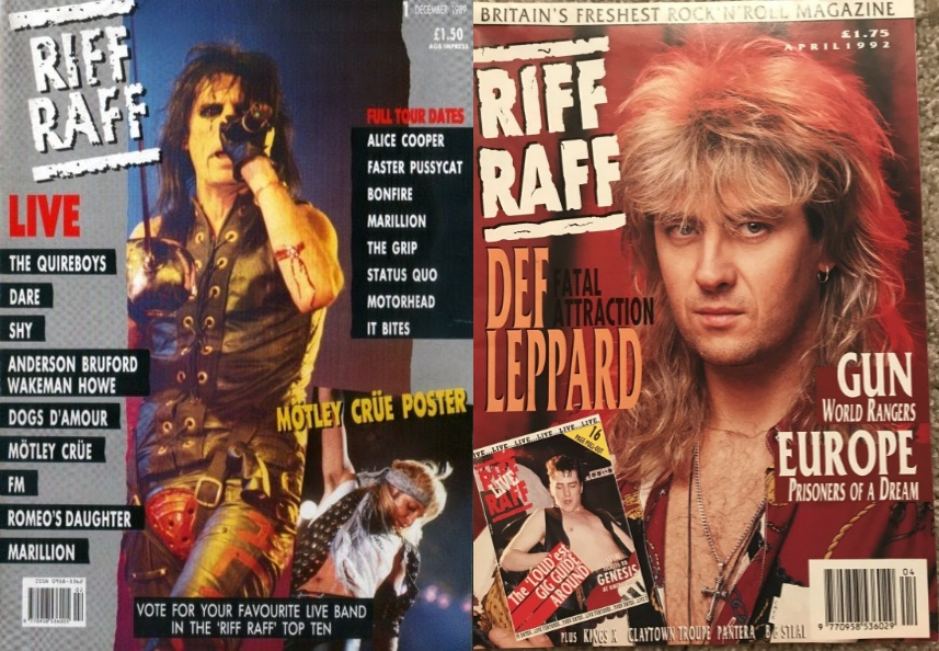 Incomplete list of Riff Raff magazines