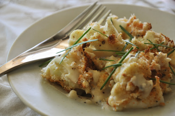 Recipe: Cauliflower with Gruyere sauce