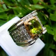 Cincin Batu Permata Green peridot -SP610