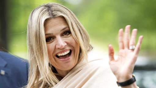 Queen Maxima of The Netherlands  visited the refugee assistance Foundation in Driebergen