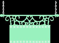 Plaquinha cute verde - Criação Blog PNG-Free
