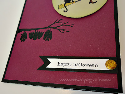 Halloween Card Ideas Hand Stamped