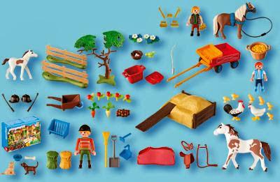 playmobil ref 4167 boite calendrier de l 39 avent ferme questre dioramas playmobil. Black Bedroom Furniture Sets. Home Design Ideas