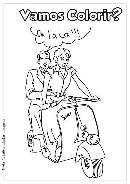 Moto Meios de Transporte de bebê desenho para colorir