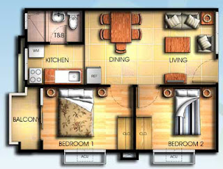 Bali Oasis Marcos Highway Pasig 2 Bedroom Unit with Balcony, Condominium for sale in Marcos Highway, Filinvest