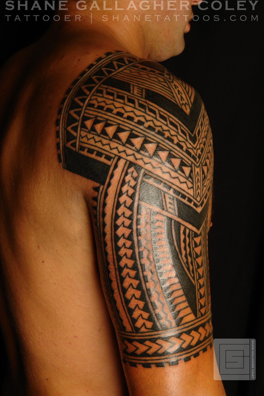 shane tattoos polynesian half sleeve. Black Bedroom Furniture Sets. Home Design Ideas