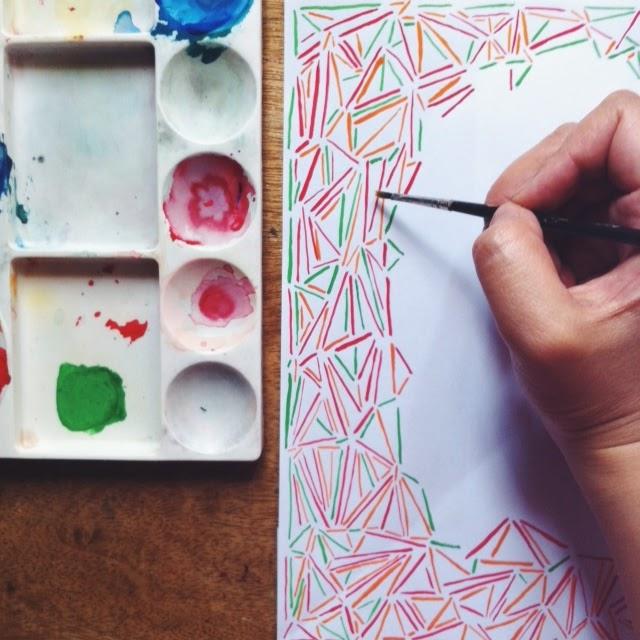 painting rainbow pick up stix