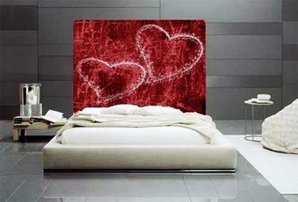 D corations romantiques de la chambre et ensembles de - Tete de lit en forme de coeur ...