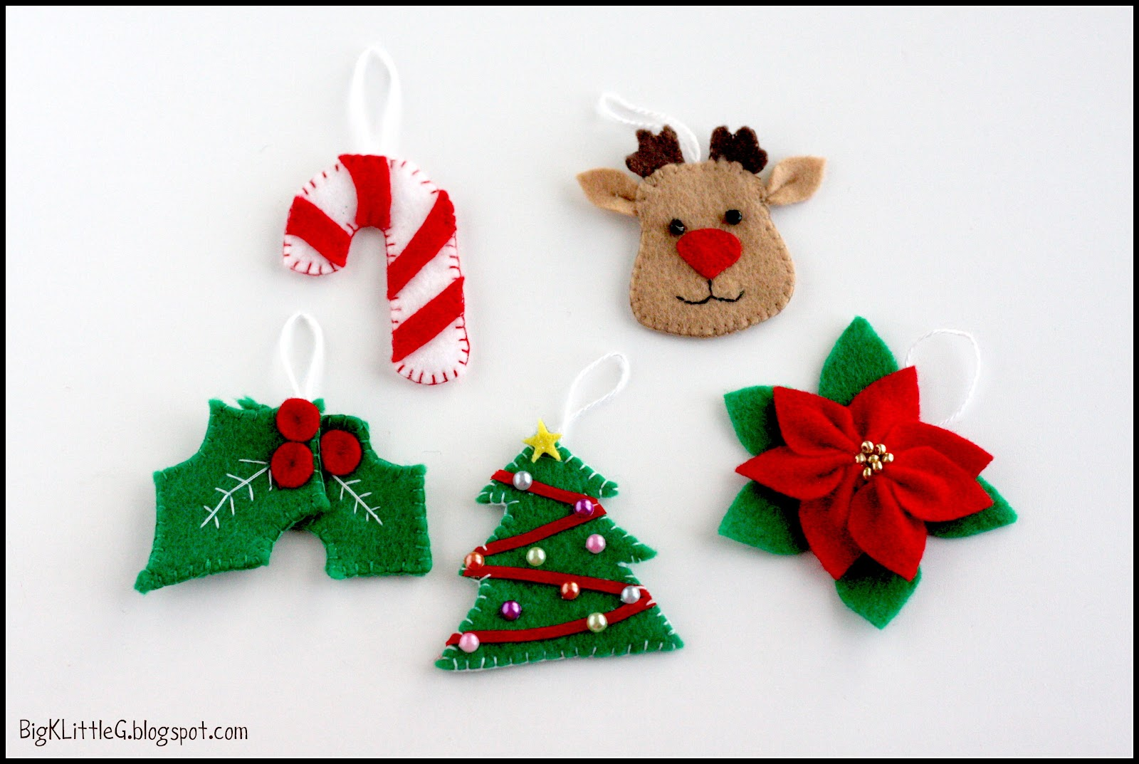 Holly christmas ornaments - Diy Felt Christmas Tree Advent Calendar