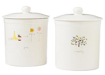 countertop compost container, ceramic