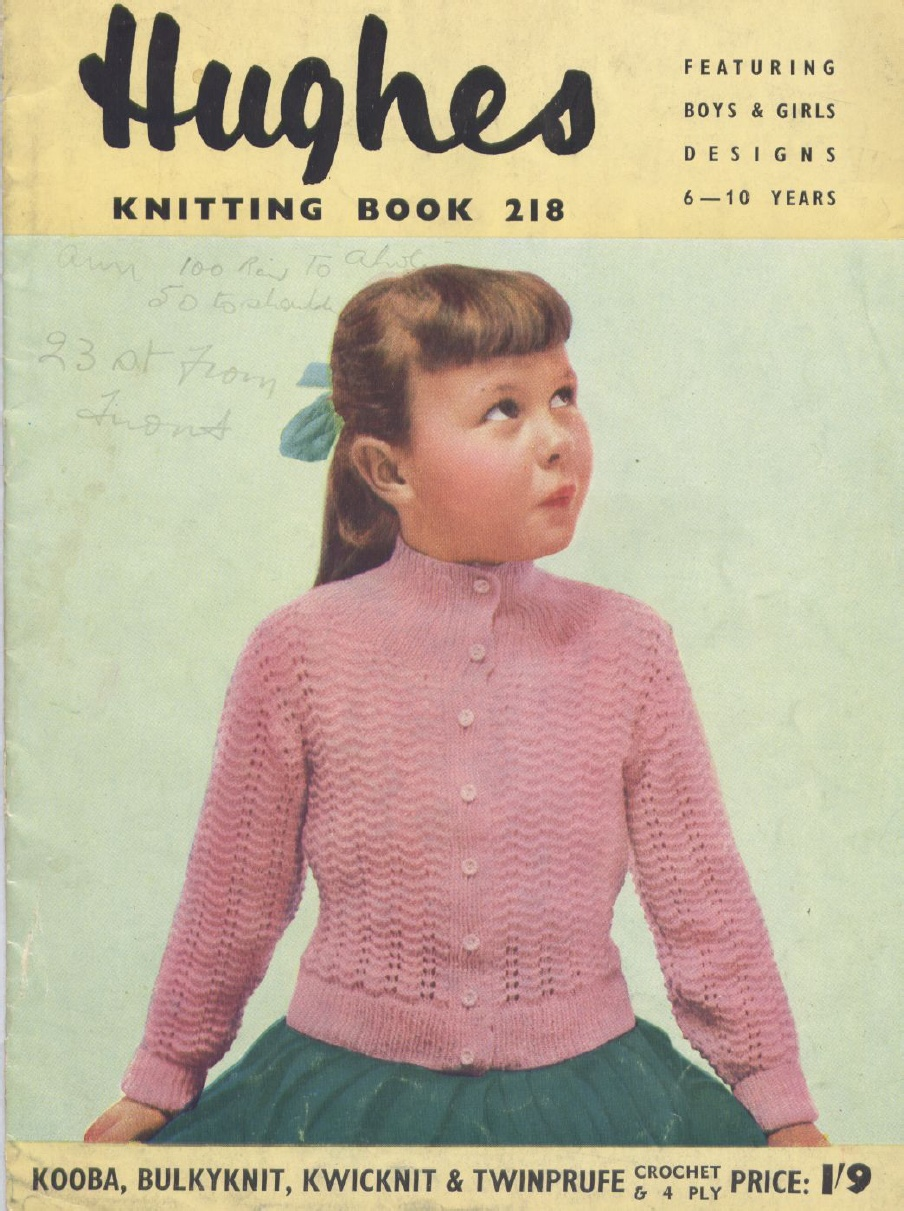 Knitting Patterns Free Vintage : The Vintage Pattern Files: 1950s Knitting - Hughes ...