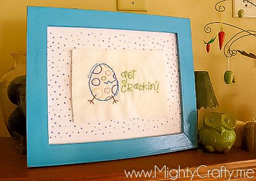 Easter Stitching - www.MightyCrafty.me