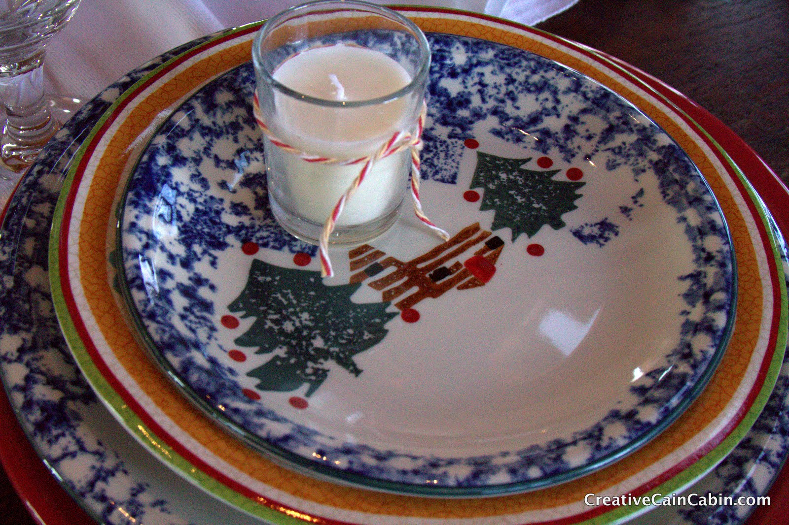 Delicieux Hereu0027s A Closer Shot Of The Dishes, They Are A Log Cabin Pattern That I  Have Had For Years And Use Them Every Christmas Season.