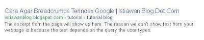 Semua Label Breadcrumbs Terindex Google
