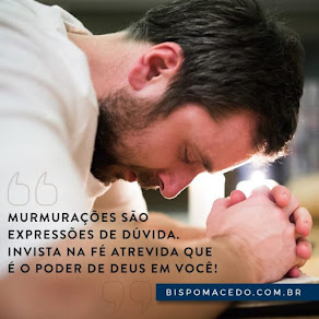 MOMENTO DE REFLEXÃO DE HOJE