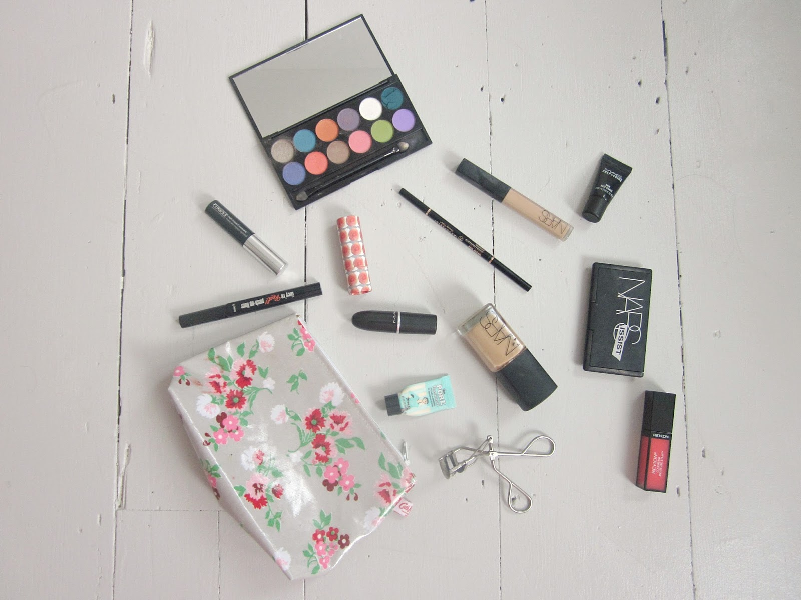 Make Up Bag and contents NARS MAC Benefit