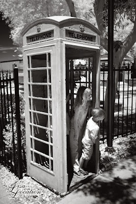 London Bridge, British phone booth, Lake Havasu City, Arizona, infrared, New Braunfels photographer