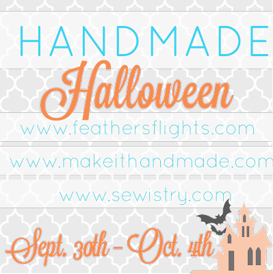 Handmade Halloween: Get Halloween inspiration from your favorite bloggers in this week long series from Make It Handmade, Feather's Flights, and Sewistry.com
